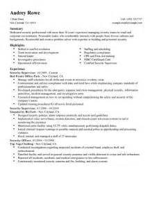best security supervisor resume exle livecareer