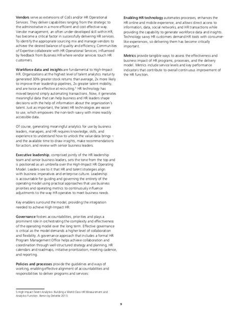 Offer Letter Deloitte Deloitte High Impact Hr Operating Model