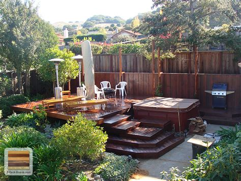 deck in backyard san francisco deck project a private garden ipe deck