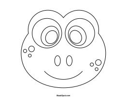 frog mask coloring page frog mask to color teatro mascaras 1 pinterest