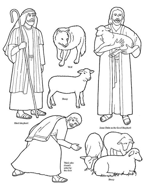 coloring pages jesus the good shepherd good shepherd and lost sheep parable coloring pages