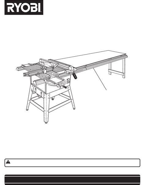 Ryobi Table Saw Manual by Ryobi Saw 4730301 User Guide Manualsonline