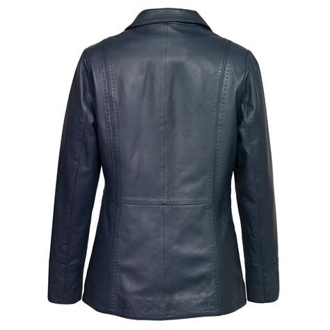 Jaket Navy maggie navy leather jacket hidepark