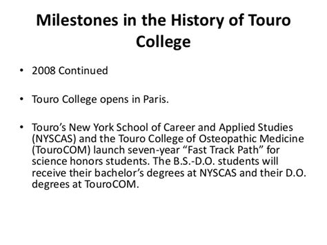 touro university worldwide announces new doctor of psychology psyd in human and organizational history of touro college