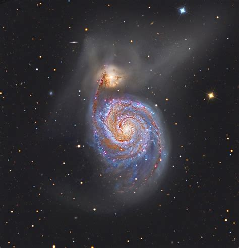 whirlpool galaxy m51 the whirlpool galaxy and its companion galaxy ngc