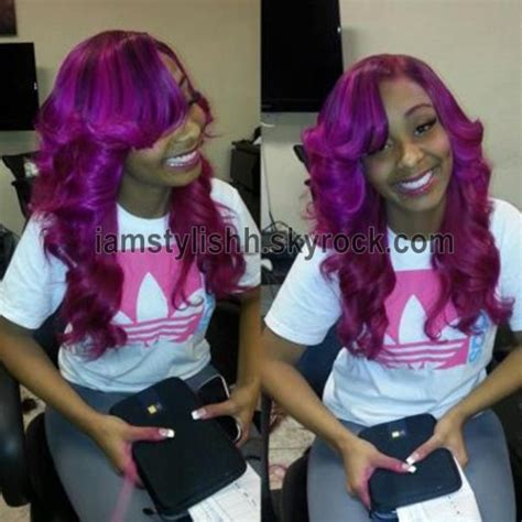 sew in weave purple to pink sew in pinterest the world s catalog of ideas