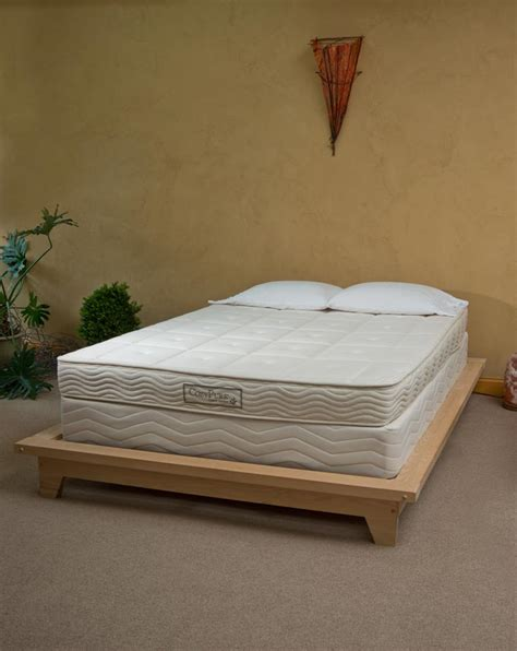 Wooden Box Bed Frame Organic Mattresses Store Certified Organic Mattress Bedding