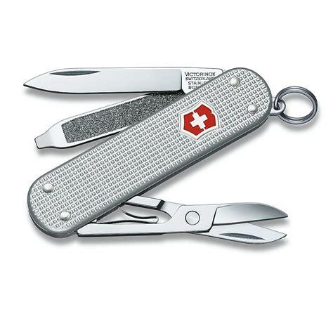 swiss army victorinox knife victorinox classic alox swiss army knife silver
