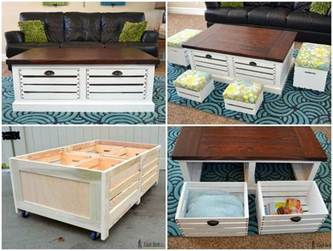 Crate Coffee Table Diy Diy Wine Crate Coffee Table Projects And Tutorials Projects To Try Pinterest Wine Crate