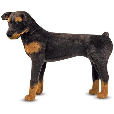 rottweiler toys and doug 174 plush rottweiler 147089 toys at sportsman s guide