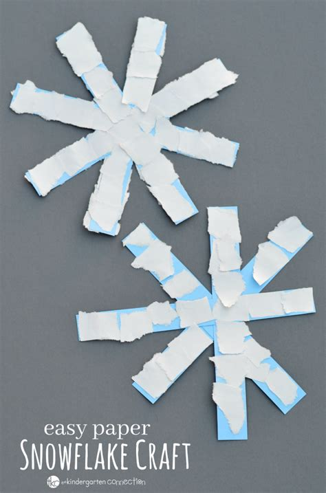 Snowflakes Paper Craft - easy paper snowflake craft winter activities for