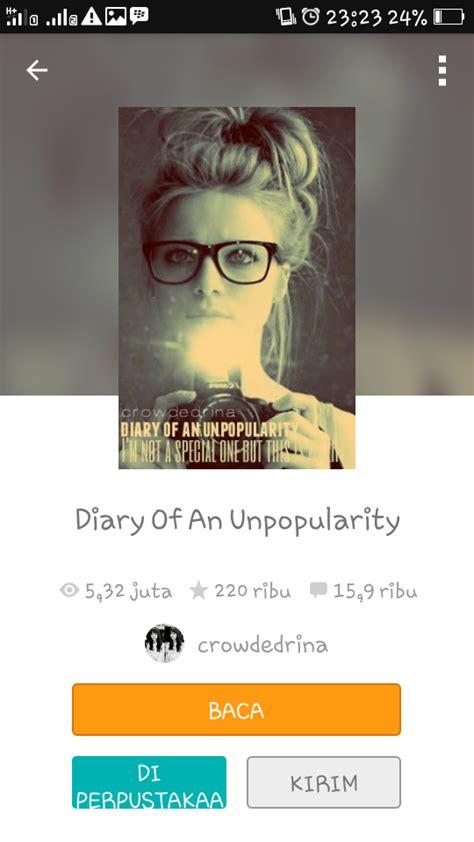 Diary Of An Unpopularity rekomendasi teenfiction di wattpad welcome to my world