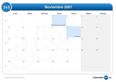 Calendario Noviembre 2007 Calendario Noviembre 2007
