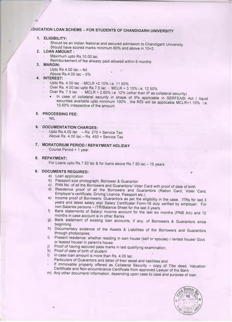 Loan Application Letter For Education Education Loan Facility