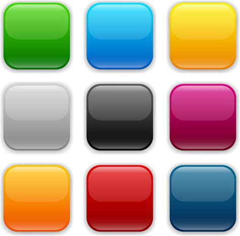 design app buttons app button icons colored vector set free vector in