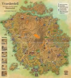 Elder Scrolls Online World Map by Vvardenfell Map Eso Morrowind The Elder Scrolls Online