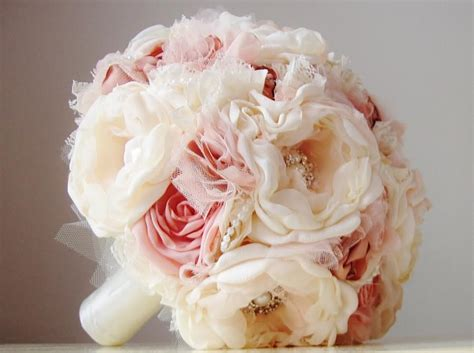 ready made bridal bouquets ready to ship fabric brooch bouquet wedding bouquet