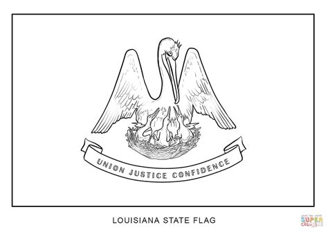 flag of louisiana coloring page free printable coloring