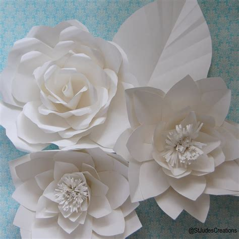 Flowers Using Paper - large chanel paper flower wall inspired wedding backdrop