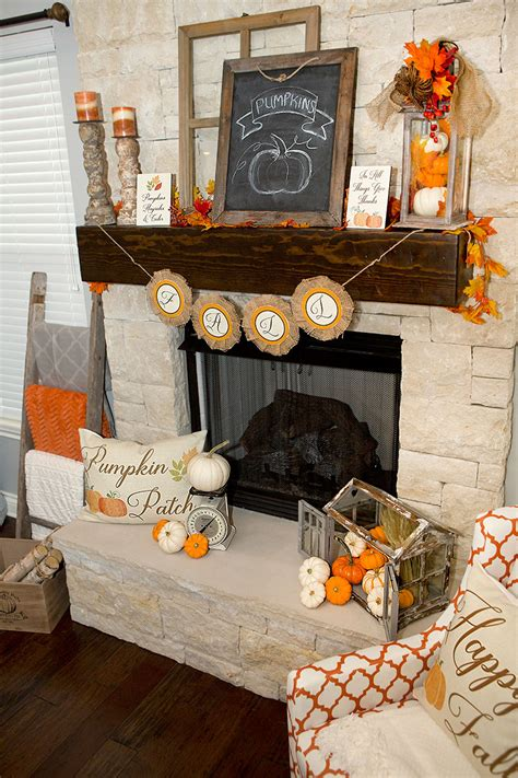 fall mantel decorations  ways hoopla  krista
