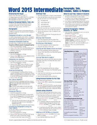quick layout word 2013 microsoft word 2013 quick guide card cheat sheet beezix
