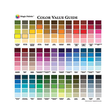buy magic palette artists color value guide