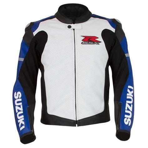 Suzuki Apparel Catalog Gsx R Leather Jacket Blue White Yamaha Sports Plaza