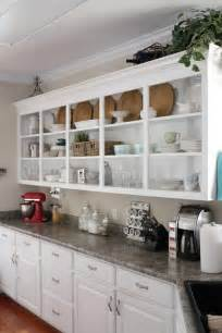 Kitchen Shelves And Cabinets by Open Kitchen Cabinets