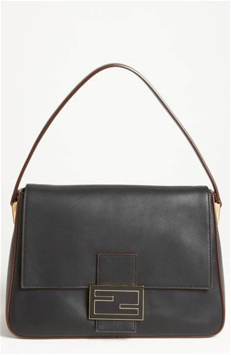 Fendi Mamma Shoulder Bag by Fendi Forever Big Mamma Shoulder Bag In Black Black