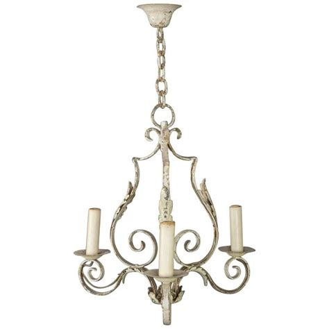 Small French Wrought Iron Chandelier For Sale At 1stdibs Small Wrought Iron Chandeliers