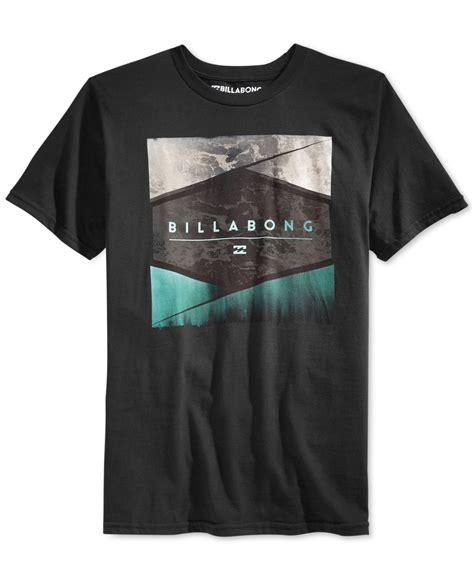 Billabong T Shirt Tshirt Black billabong washer graphic t shirt in black for lyst