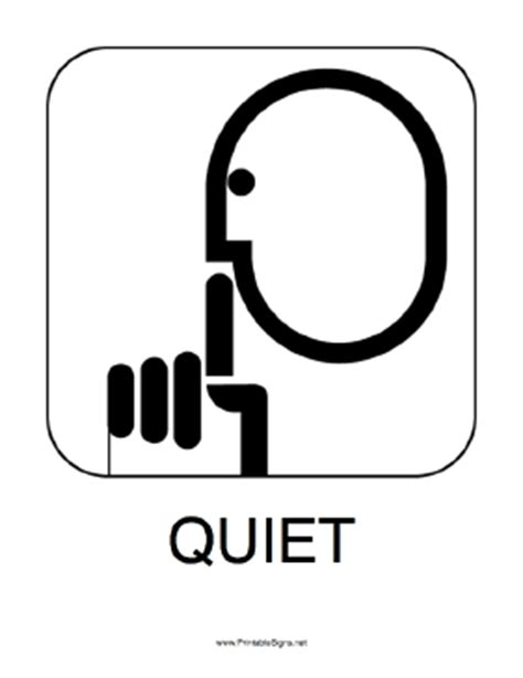 printable quiet signs image gallery quiet sign