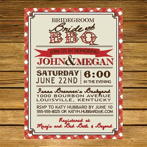 backyard bbq wedding invitations backyard bbq bridal shower invitation by liliesofthefields