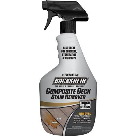 rust oleum rocksolid  oz composite deck stain remover