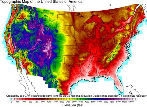 altitude maps united states topographic maps of the united states