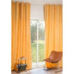 rideau 224 蜩illets en velours jaune 140 x 300 cm vintage