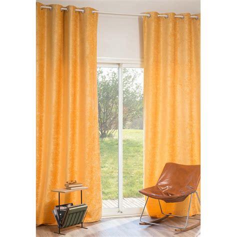 yellow velvet curtains vintage velvet curcuma velvet eyelet curtain in yellow 140