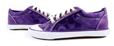 purple sneakers coach signature barrett purple logo sneakers tennis shoes
