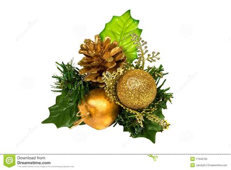 green gold decorations decoration green gold branch stock image