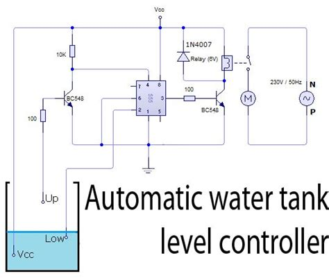 automatic water tank level controller circuit watertank