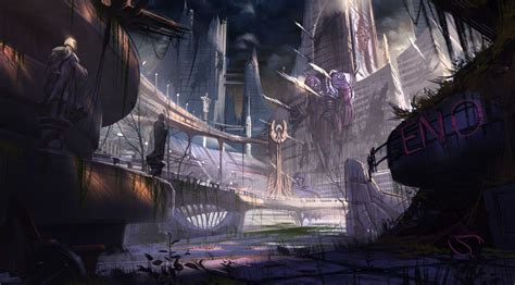 games blog what is concept art deadpool game concept art background 04 chaos mechanica
