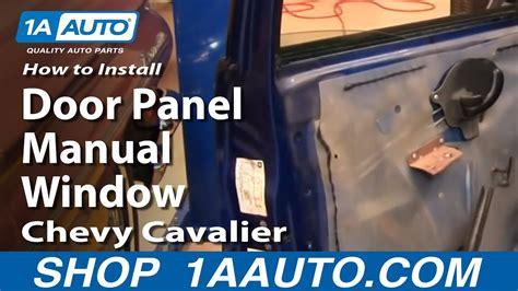 Remove Rear Door Trim 2003 Chevrolet Cavalier Can You