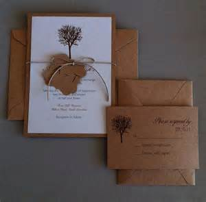 items similar to rustic tree wedding invitation set rsvp cards included on etsy