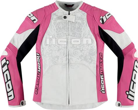 pink motorcycle jacket icon overlord prime s leather motorcycle jacket pink