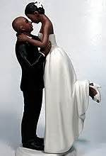 Bald Hispanic Black American Groom American Cake Toppers Black Wedding Cake Toppers Wedding Collectibles