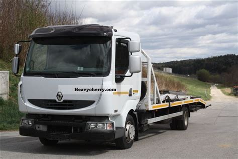 renault midlum 180 for 3 cars 2006 car carrier truck photo