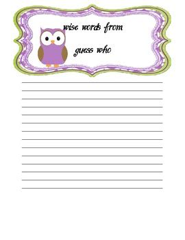 printable owl note paper back to school night note cute free owl paper template