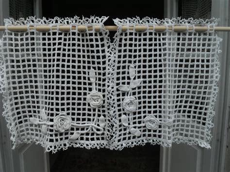 tende all uncinetto moderne biancheria vintage francese fiori di tende all uncinetto