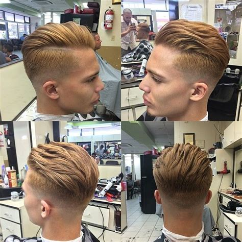 short side part hair styles 360 view nice cool short brushed back hairstyle for boys 2015 men