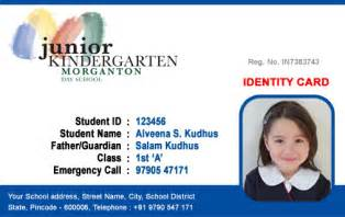 School Id Templates by Id Cards Student Id Card Free Template